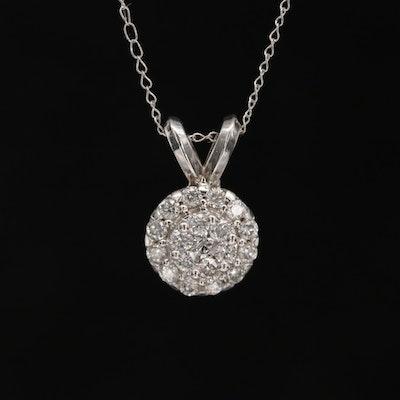 Mireya 14K White Gold Diamond Pendant Necklace
