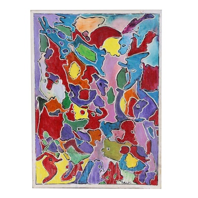 Charles Tullio Abstract Acrylic Painting