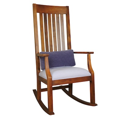 """Ethan Allen """"Country Colors"""" Maple Rocking Chair"""