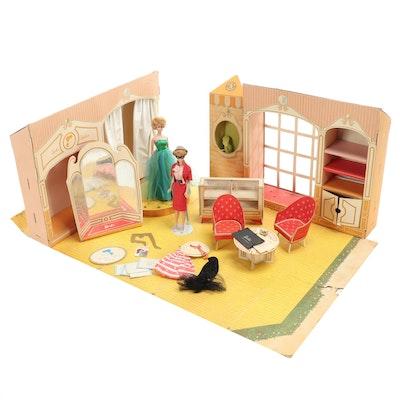 Barbie's Fashion Shop with Barbie Fashion Dolls, 1960's