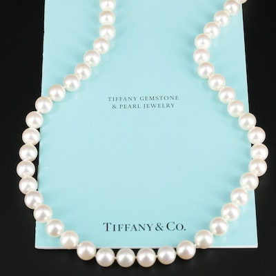 Tiffany & Co. 18K Yellow Gold Cultured Pearl Knotted Necklace