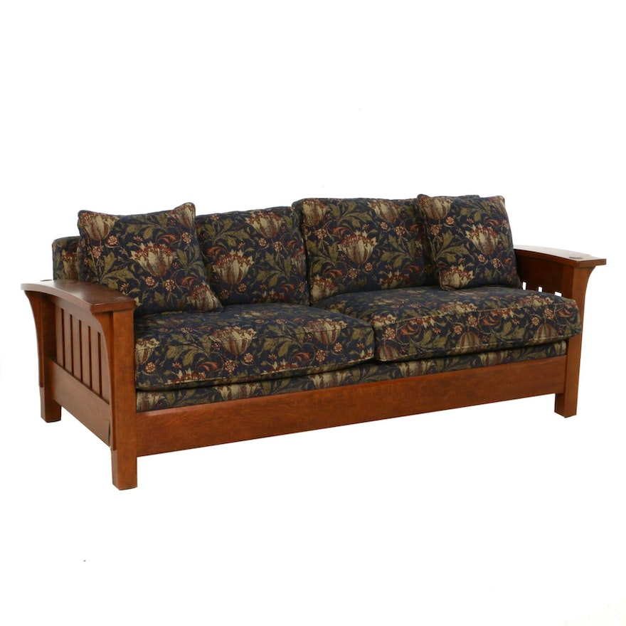 "Stickley Furniture Arts & Crafts Style ""Orchard St."" Sofa"