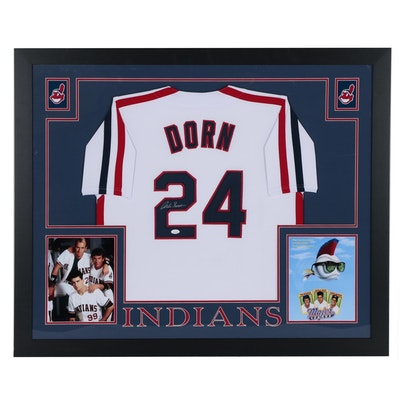 "Corbin Bernsen Signed Cleveland Indians ""Dorn"" Jersey, Movie ""Major League"" COA"