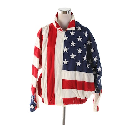 Limited Edition U.S.A. American Flag Zip Jacket