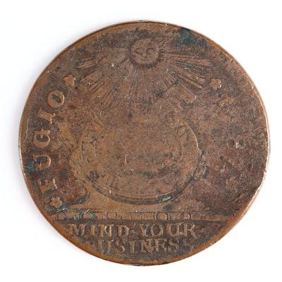 1787 U.S. Fugio Cent Copper Coin