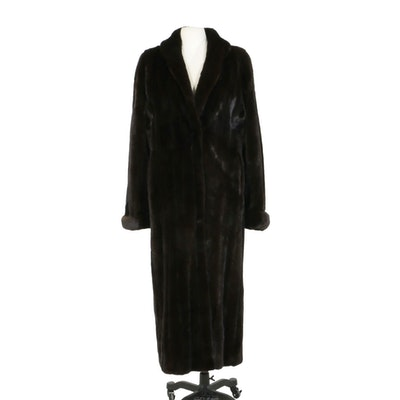 Blackglama Dark Ranch Mink Fur Full-Length Coat from The Fur Vault