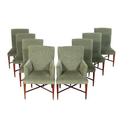 Baker Furniture Upholstered Dining Chairs, Contemporary