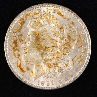 1891 Silver Morgan Dollar