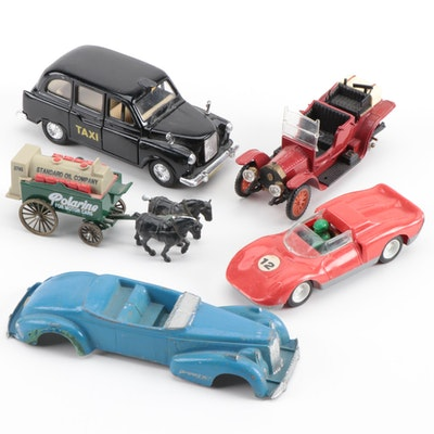 Diecast and Plastic Toy Cars Including French Ferrari Racing Model