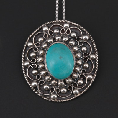 Mexican Sterling Silver Converter Pendant Necklace