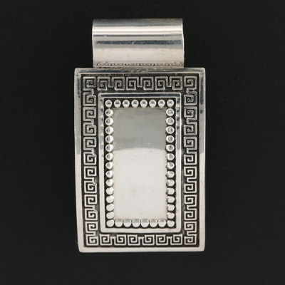 Sterling Silver Rectangular Slide Pendant