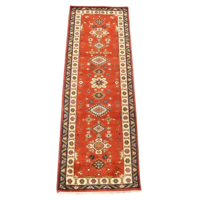 2'7 x 8' Hand-Knotted Indo-Persian Heriz Rug Runner