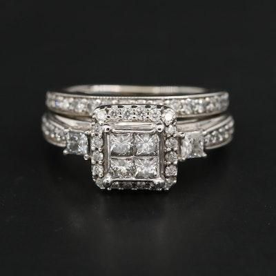 10K White Gold 1.00 CTW Diamond Ring