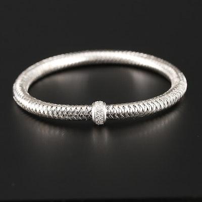"Roberto Coin ""Primavera"" 18K White Gold Diamond Flexible Bracelet"