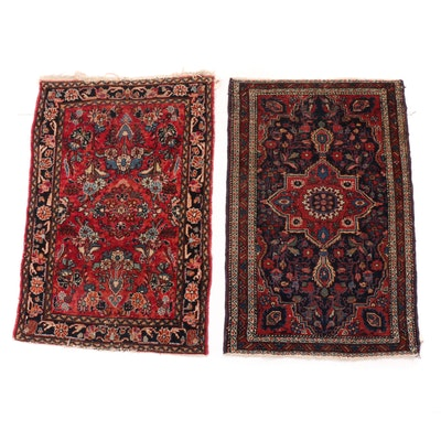 2'4 x 4'7 Hand-Woven Persian Didaragazine Rugs, 1920s