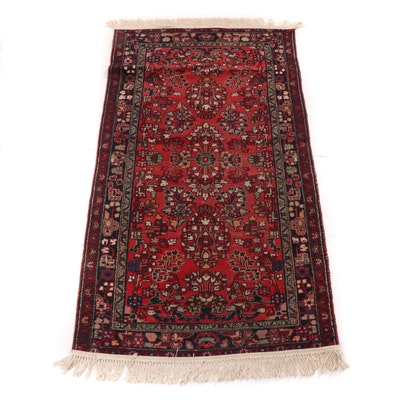 3'6 x 6'10 Hand-Woven Persian Daragazine Accent Rug, 1960s