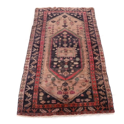 5'4 x 8' Hand-Woven Persian Afshar Rug, 1980s