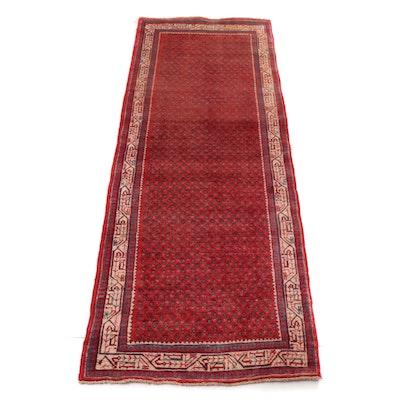 3'7 x 10'4 Handwoven Persian Mir Sarouk Long Rug