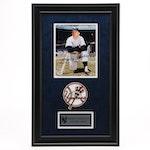 Mickey Mantle Signed New York Yankees Framed Baseball Display, PSA/DNA COA