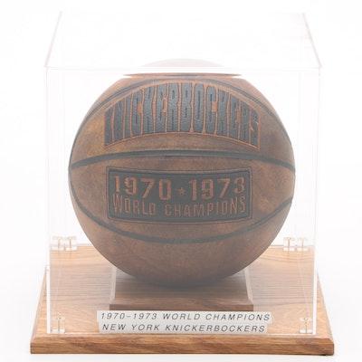 "1970-1973 New York Knicks ""World Champions"" Replica Basketball in Case"