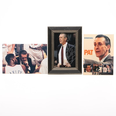 Pat Riley New York Knicks Signed Photo Print with Action Coaching Posters