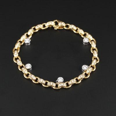 "Roberto Coin ""Cento Amuleto"" 18K Gold 1.16 CTW Diamond Bracelet"