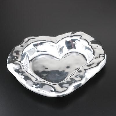 """Beatriz Ball """"Vento"""" Metal Heart-Shaped Bowl, Contemporary"""