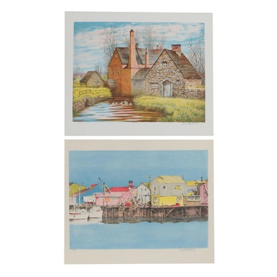 Don Whitlock Architectural Color Lithographs