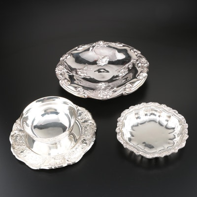 "Wallace ""Grand Victorian"" Silver Plate Mayonnaise Bowl and More"