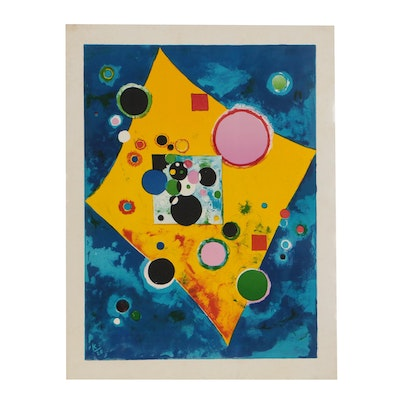 "Color Lithograph after Wassily Kandinsky ""Accent in Pink"""