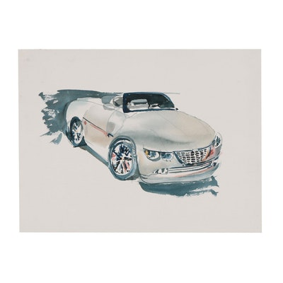 Margaret Voelker-Ferrier Watercolor Automotive Illustration