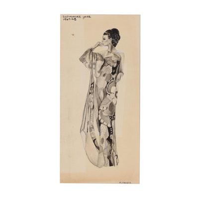 Margaret Voelker-Ferrier Watercolor Fashion Illustration