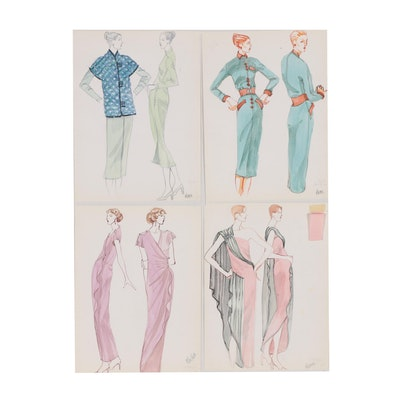 Margaret Voelker-Ferrier Watercolor Fashion Illustrations