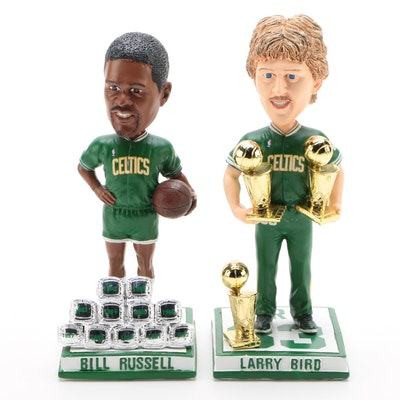 Bill Russell and Larry Bird Boston Celtics Forever Bobblehead Dolls