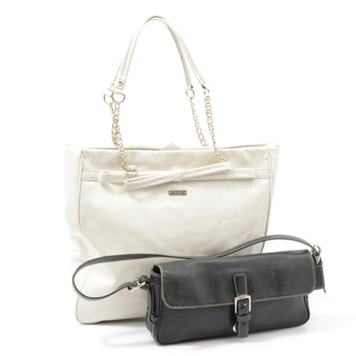 Coach East West Hamptons Leather and Kate Spade Patent Leather Shoulder Bags
