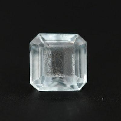 Loose 3.22 CT Aquamarine Gemstone