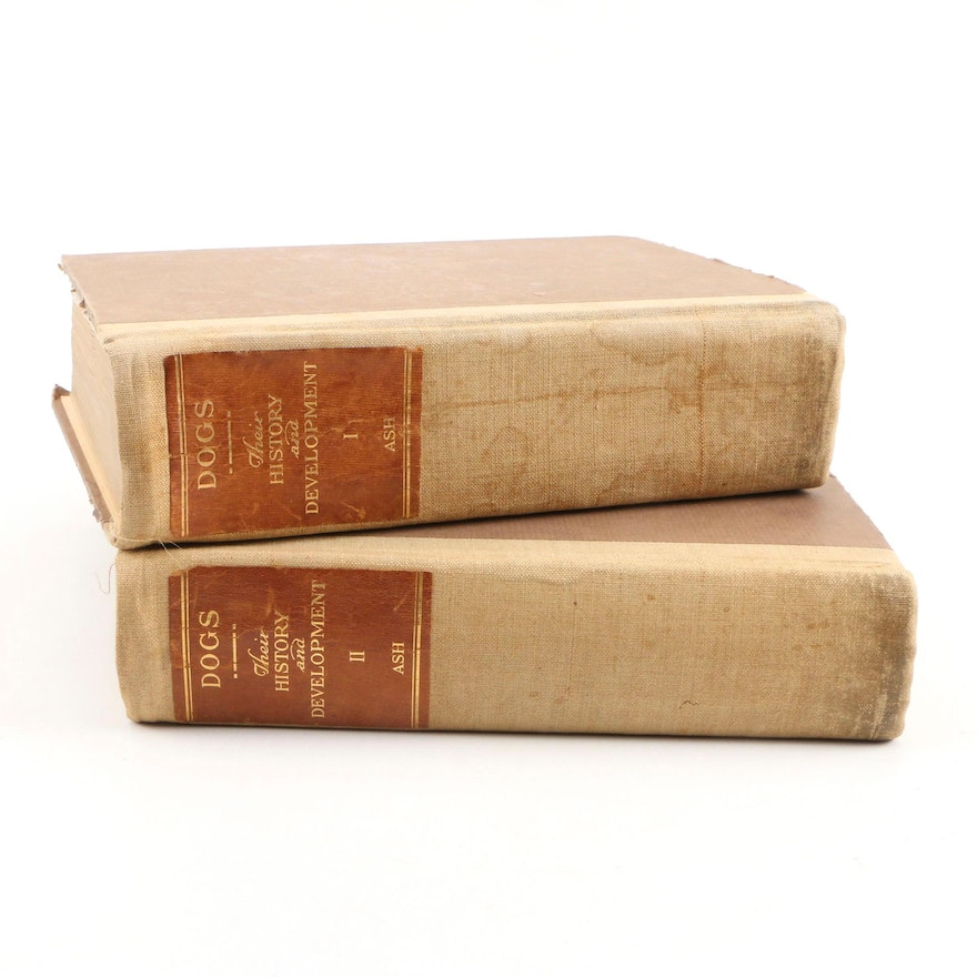 """""""Dogs: Their History and Development"""" by Edward C. Ash, Two Volumes"""