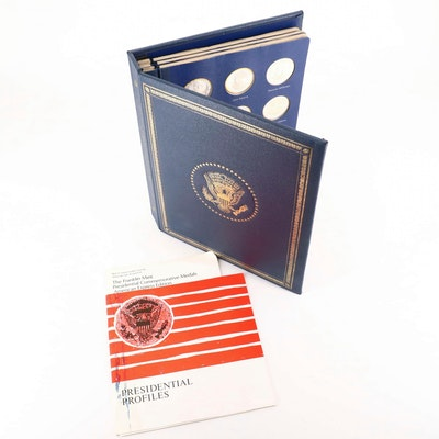 Franklin Mint Presidential Commemorative Silver Medals Set