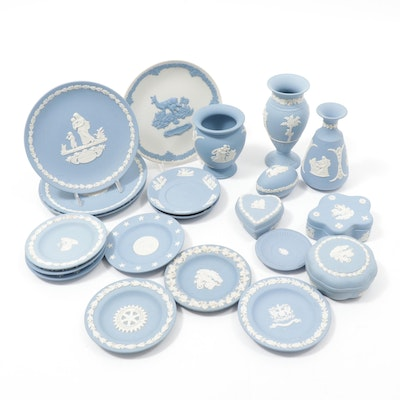 Wedgwood Jasperware Vases and Plates, 1970s