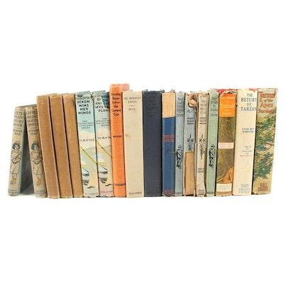Books in a Series including Tarzan, Nancy Drew, Bobbsey Twins and Others