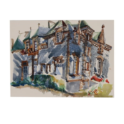 Margaret Voelker-Ferrier Architectural Watercolor Illustration