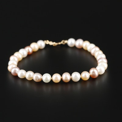 Cultured Pearl Bracelet with 14K Yellow Gold Finding