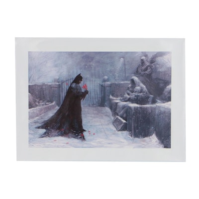 Giclee Print of Batman in Cemetery