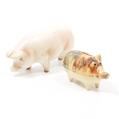Goebel Ceramic Pig and Earthenware Piggy Bank