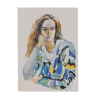 Margaret Voelker-Ferrier Portrait Watercolor Illustration