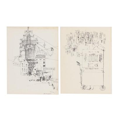 Figure and City Scene Lithographs, circa 1966