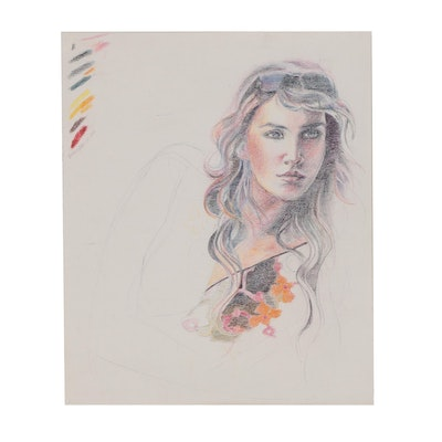 Margaret Voelker-Ferrier Portrait Colored Pencil Drawing