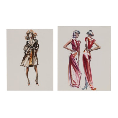 Margaret Voelker-Ferrier Watercolor Fashion Illustrations