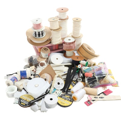 Serger and Sewing Thread Spools, Trim, Zippers, and Other Sewing Supplies