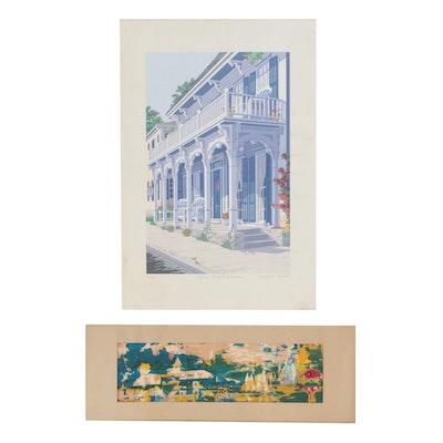 Margaret Babbitt and Phillis Skelton Serigraphs